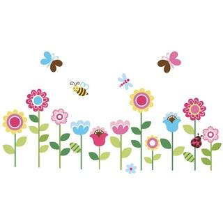 Lovely Garden Peel & Stick Kids Room/ Nursery Wall Decal for Boys & Girls
