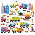 City Construction Peel & Stick Kids Room Wall Decal for Boys & Girls