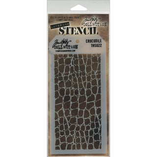 Tim Holtz Layered Stencil 4.125inX8.5in-Crocodile