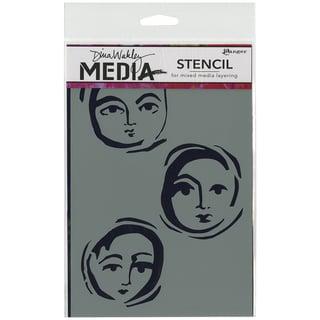 Dina Wakley Media Stencils 6inX9in-Moon Faces