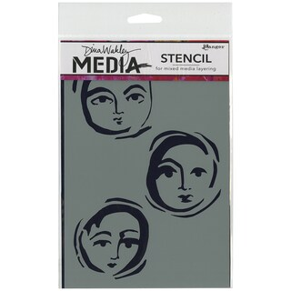 Dina Wakley Media Stencils 6inX9in-Moon Faces