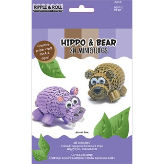 Quilling Kit-Hippo & Bear