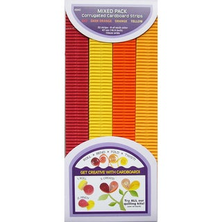 Quilling Paper Corrugated 18.5inX10mm 32/Pkg-Red, Orange & Yellow