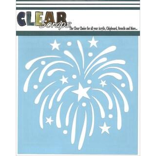 Clear Scraps Stencils 6inX6in-Fireworks
