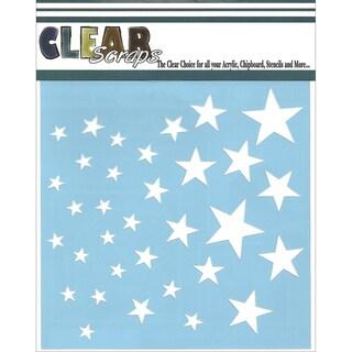 Clear Scraps Stencils 6inX6in-Stars