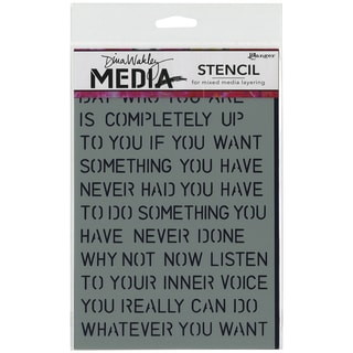 Dina Wakley Media Stencils 6inX9in-Affirmations