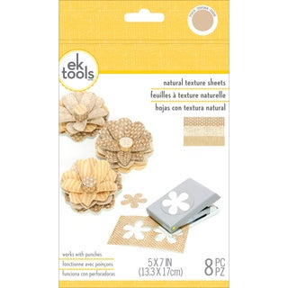 Natural Texture Sheets 8/Pkg-5inX7in