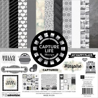 Echo Park Collection Kit 12inX12in-Capture Life Black & White