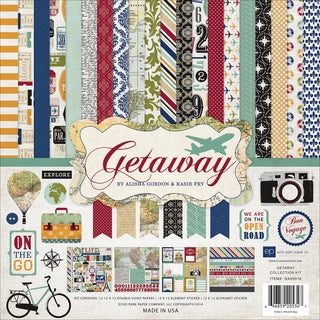 Echo Park Collection Kit 12inX12in-Getaway