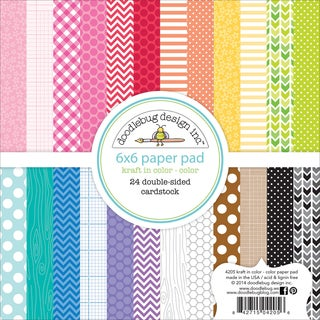 Kraft In Color Paper Pad 6inX6in 24/Sheets-Color