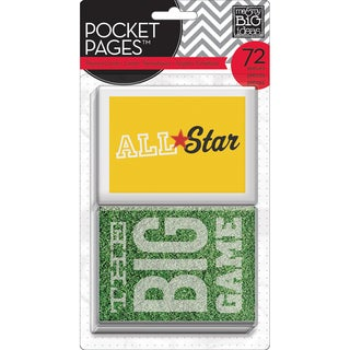 Me & My Big Ideas Pocket Pages Themed Cards 3inX4in 72/Pkg-Sports