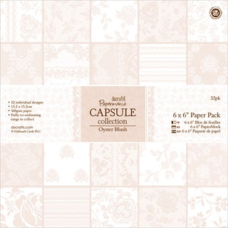 Papermania Oyster Blush Paper Pack 6inX6in 32/Sheets