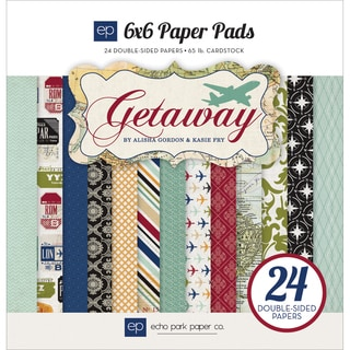Echo Park Paper Pad 6inX6in 24/Pkg-Getaway