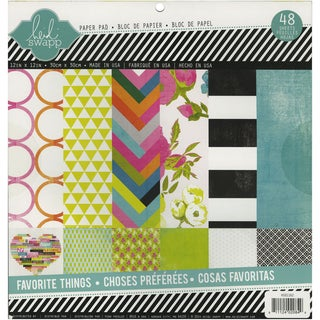 Heidi Swapp Paper Pad 12inX12in 48/Pkg-Favorite Things