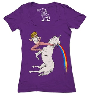 Women's Bloodsport Blondie Unicorn V-neck T-shirt