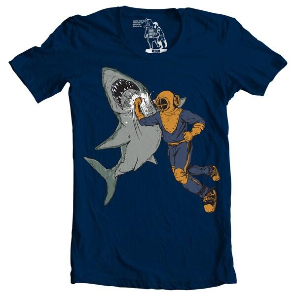 Men's Shark Punch Crewneck Short Sleeve T-shirt