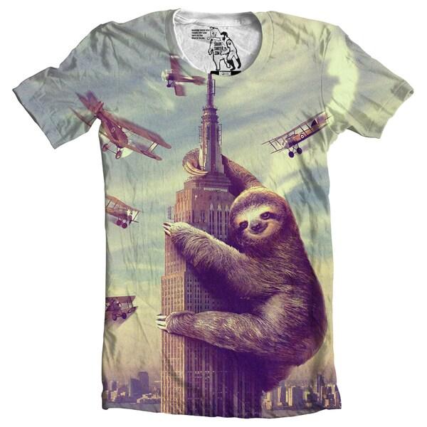 Mens Slothzilla Cotton Graphic T-Shirt