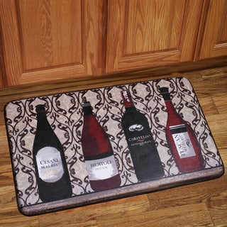 Memory Foam Assorted Wine Design Kitchen Floor Mat