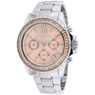 Link to Michael Kors Womens' MK5870 Everest Chronograph Stainless Steel Watch Similar Items in Women's Watches