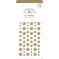 Glossy Enamel Adhesive Sprinkles-Gold Dots 54/Pkg