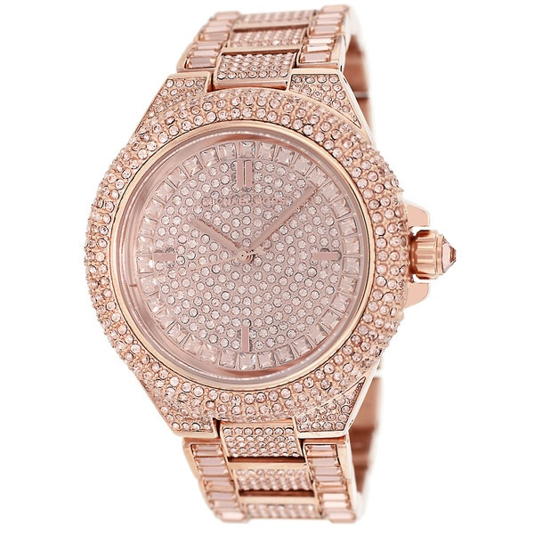 1ac56e9f27 Shop Michael Kors Women's MK5862 'Camille' Rose Gold Glitz Watch ...
