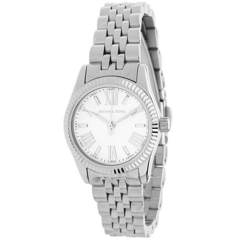 Michael Kors Women's MK3228 Lexington White Dial Stainless Steel Watch