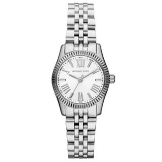 Michael Kors Women's MK3228 Lexington White Dial Stainless Steel Watch