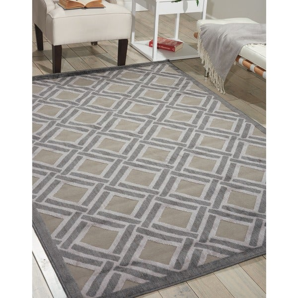 Nourison Graphic Illusions Grey Rug