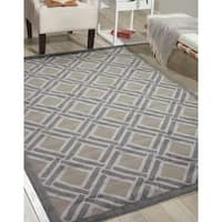 Nourison Graphic Illusions Grey Rug - 4' x 6'