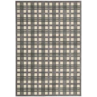 Nourison Graphic Illusions Ivory Taupe Rug (3'6 x 5'6)