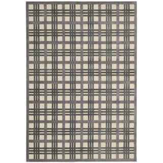Nourison Graphic Illusions GIL20 Textured Plaid Area Rug