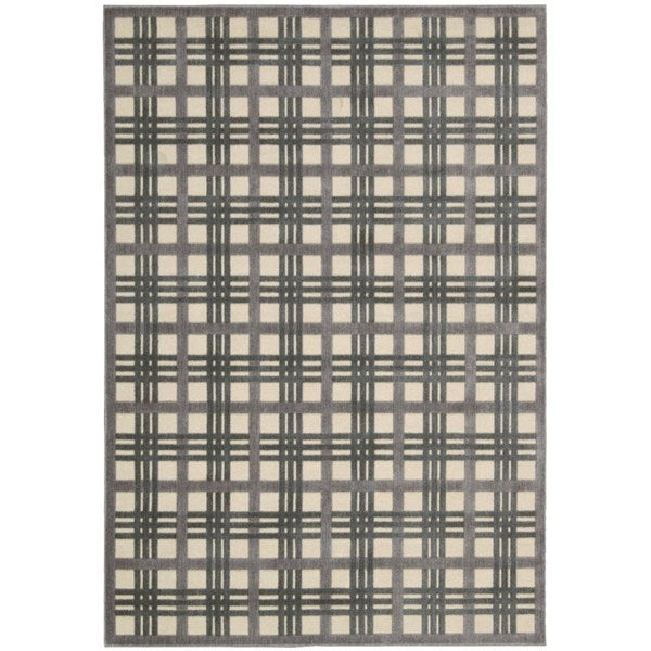 Nourison Graphic Illusions Ivory Taupe Rug