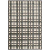 Nourison Graphic Illusions Ivory Taupe Rug - 5'3 x 7'5