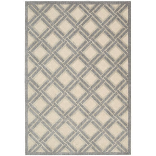 Nourison Graphic Illusions Ivory Rug - 5'3 x 7'5