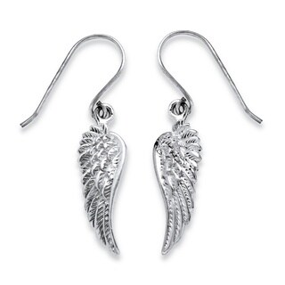Angel Wing Drop Earrings in .925 Sterling Silver Tailored
