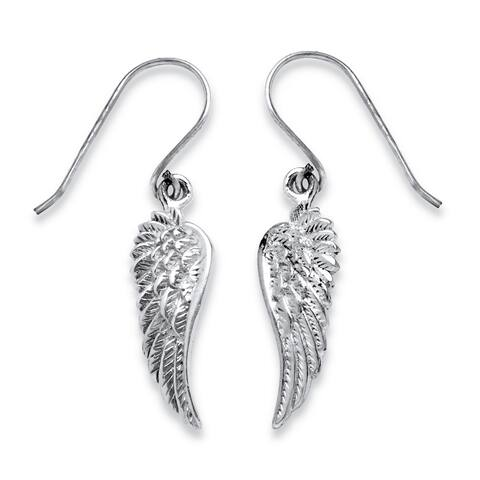 Angel Wing Drop Earrings in .925 Sterling Silver Tailored