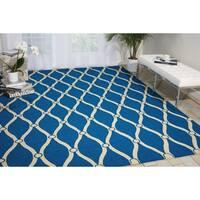 Nourison Portico Navy Indoor/ Outdoor Area Rug (5' x 7'6)