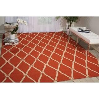 Nourison Portico Orange Indoor/ Outdoor Area Rug (3'6 x 5'6)