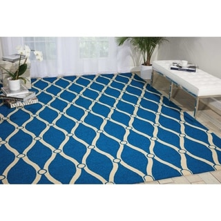 Nourison Portico Navy Indoor/ Outdoor Area Rug (3'6 x 5'6)