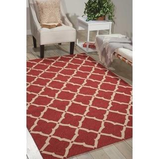 Nourison Portico Red Indoor/ Outdoor Area Rug (3'6 x 5'6)
