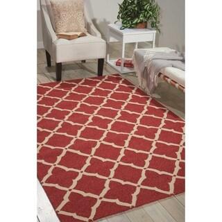 Nourison Portico Red Indoor/ Outdoor Area Rug - 4' x 6'