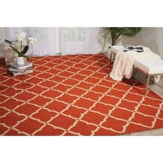 Nourison Portico Orange Indoor/ Outdoor Area Rug