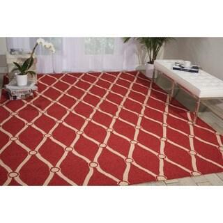Nourison Portico Red Indoor/ Outdoor Area Rug (2' x 3') - 2' X 3'
