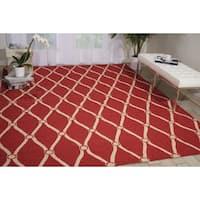 """Nourison Portico Red Indoor/ Outdoor Area Rug (2'3 x 3'9) - 2'3"""" x 3'9"""""""