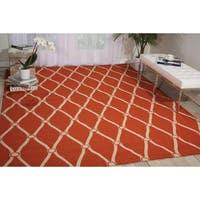 Nourison Portico Orange Indoor/ Outdoor Area Rug - 8' x 10'6