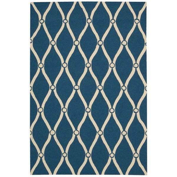 Nourison Portico Navy Indoor/ Outdoor Area Rug (8' x 10'6)