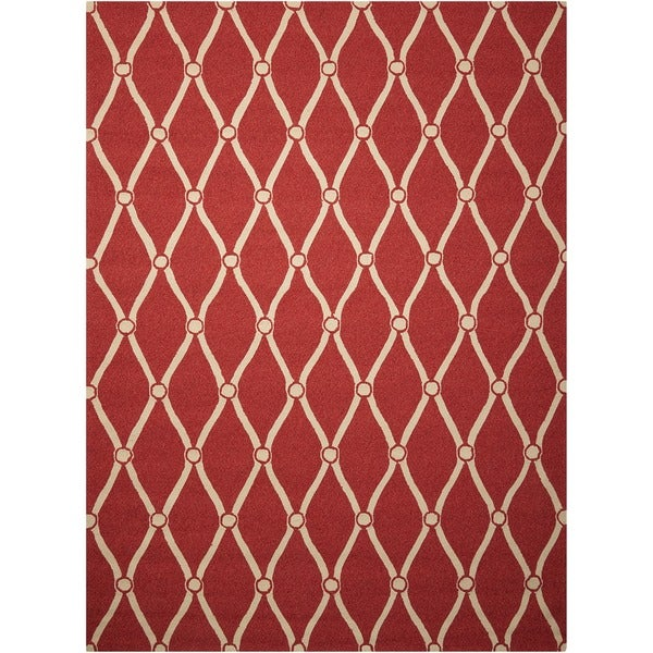 Nourison Portico Red Indoor/ Outdoor Area Rug - 10' x 13'