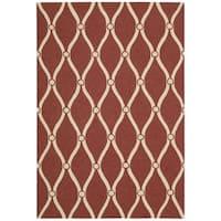 Nourison Portico Red Indoor/ Outdoor Area Rug - 8' x 10'6