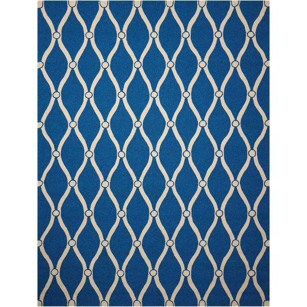 Nourison Portico Navy Indoor/ Outdoor Area Rug (10' x 13')