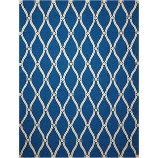 Nourison Portico Navy Indoor/ Outdoor Area Rug (10' x 13')
